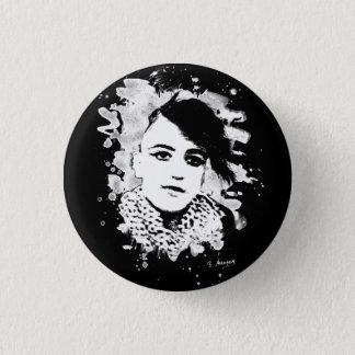 Goth punk Girl 1 Inch Round Button