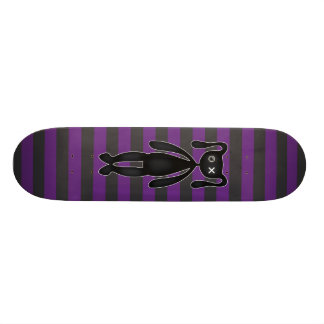 Goth Purple and Black Bunny Skate Board Decks