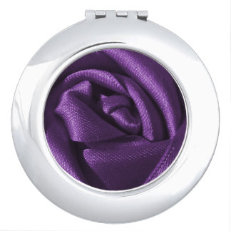 Goth Purple Rose Compact Mirrors