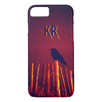 Goth Quoth The Raven Under Midnight Sky, Monogram iPhone 8/7 Case
