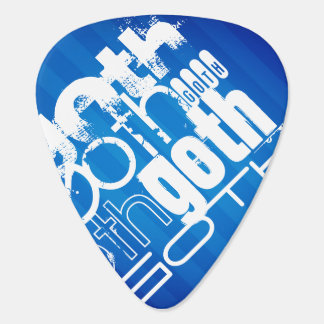 Goth ; Rayures bleues royales Onglet De Guitare
