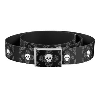 Goth skull fashion belt