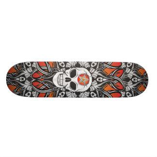 Goth Skull - Orange skate Skate Deck