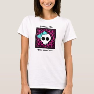 Goth skull sweet 16 birthday girl T-Shirt
