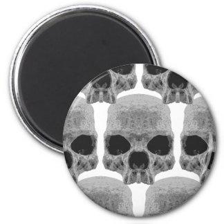 goth skulls 2 inch round magnet