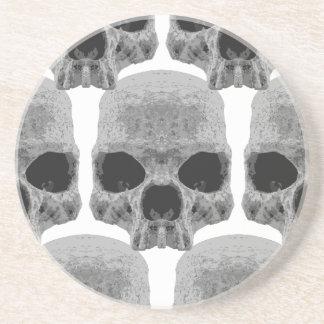 goth skulls coasters