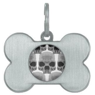 goth skulls pet tags