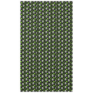 Goth Skulls With Green Hearts Tablecloth