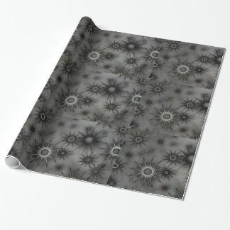 Goth snowflake wrapping paper
