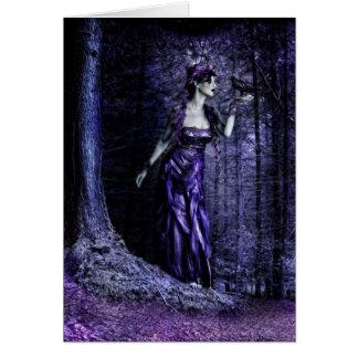 Goth Woman Greeting Card
