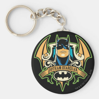 Gotham Guardian Basic Round Button Keychain