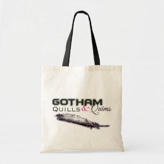 Gotham Quills & Quims Tote - White2