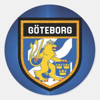 Gothenburg Flag Classic Round Sticker