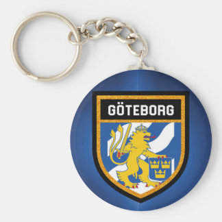Gothenburg Flag Keychain