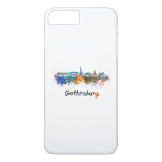Gothenburg skyline in watercolor iPhone 8 plus/7 plus case
