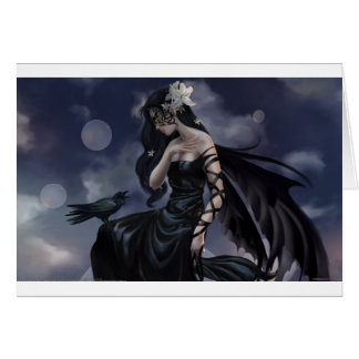 Gothic angel card