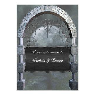 Gothic Arch Plaque Vampire Goth Wedding Card