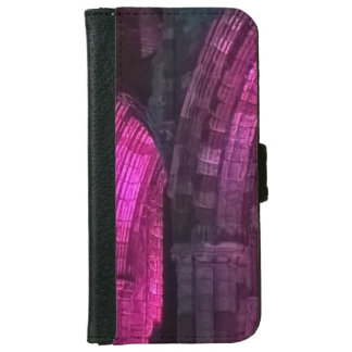 Gothic arches Whitby abbey illuminated iPhone 6 Wallet Case