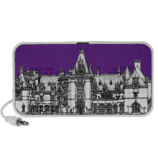 Gothic architecture in purple notebook speakers