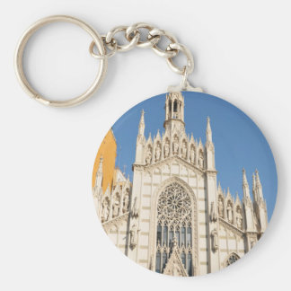 Gothic architecture in Rome, Italy Basic Round Button Keychain