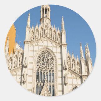 Gothic architecture in Rome, Italy Classic Round Sticker