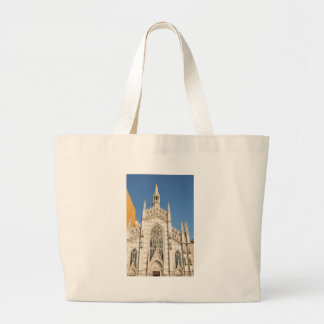 Gothic architecture in Rome, Italy Large Tote Bag