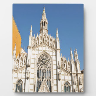Gothic architecture in Rome, Italy Plaque