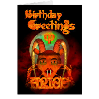 Gothic Aries Zodiac Birthday Greetings by Valxart Card