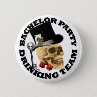 Gothic Bachelor party drinking team 2 Inch Round Button