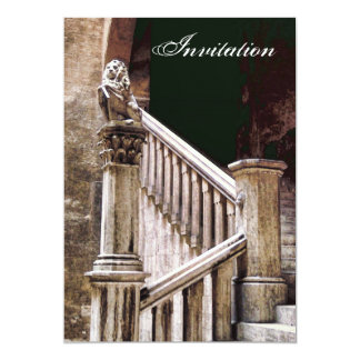 Gothic Banquet Invitation Mysterious Dark Stairway