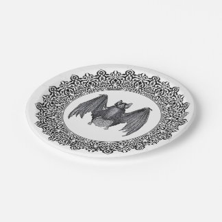 Gothic Bat Plates 7 Inch Paper Plate