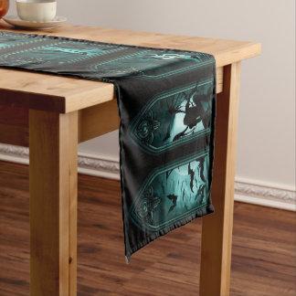 Gothic Bat Windows Short Table Runner