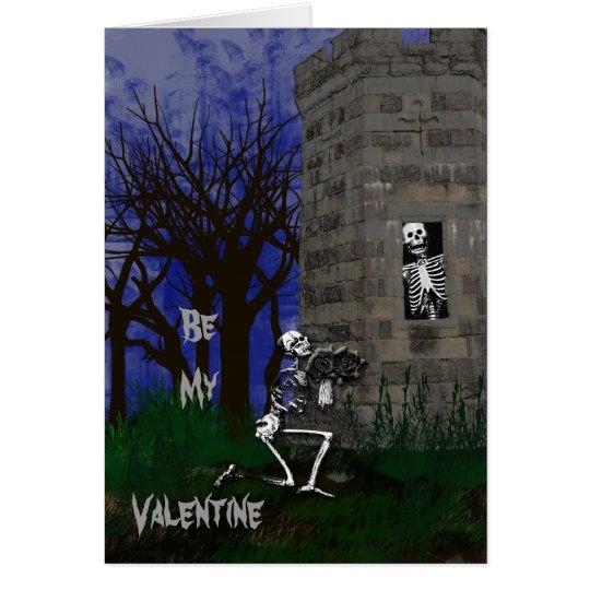 Gothic Be My Valentine Card