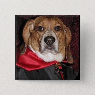 Gothic Beagle Dogula Button