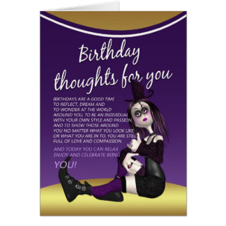 gothic birthday card - birthday thaughts for you -
