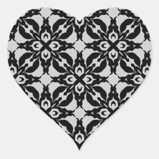 Gothic black and gray kaleidoscope envelope seals