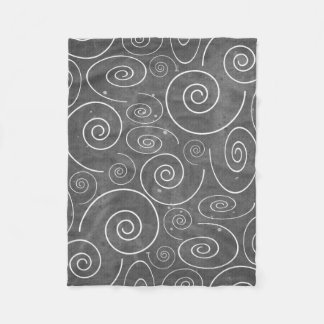 Gothic Black and White Swirls Spirals blanket