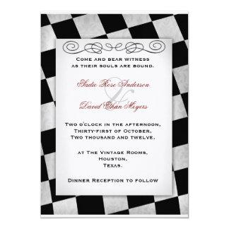 Gothic Black and White Wedding Invitation