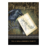 Gothic Black Crow Large Personalized Announcements