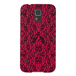 Gothic Black Lace on Rich Red Galaxy S5 Case