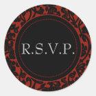 Gothic Black & Red Flourish Envelope Seals