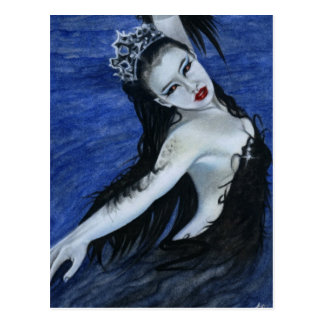 Gothic black swan beauty Postcard