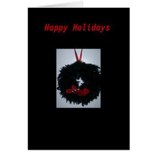 Gothic Black Wreath Christmas Card