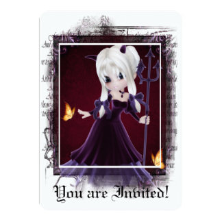 Gothic Bridal Shower Invitation Little Devil 7
