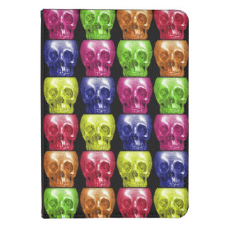 Gothic Bright Colors Skulls Collage Halloween Kindle 4 Cover