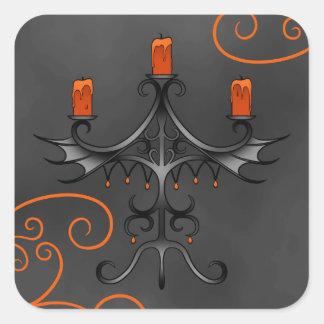 Gothic candelabra Halloween Stickers