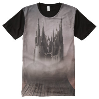 Gothic Castle Ruins All-Over Print T-Shirt