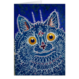Gothic Cat by Louis Wain Card