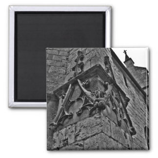 Gothic cathedral court jester close up magnet