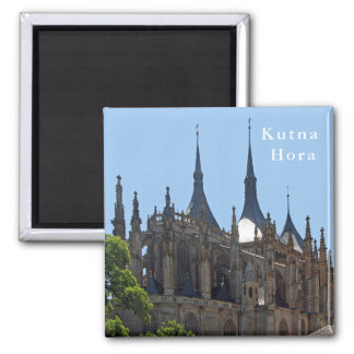 Gothic Cathedral of St. Barbara in Kutna Hora. Magnet